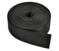 Wholesale 1 Inches Wide Yards Black Nylon Heavy Webbing Strap with