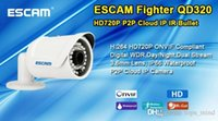 Wholesale 2015 escam Fighter Qd320 H Cmos Ip Camera mm Lens Waterproof Ir m Security Night for Vision Onvif P2p Mini Cctv Accessories