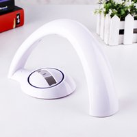 Wholesale Fashion Design White Table Lamps LED Rainbow Projector Desk Table Lamp Bedroom Foyer Study Table Lamps OED TLY01