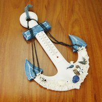 advanced decor - Large Wooden Boat Anchor With A Hook Mediterranean Hall Of Advanced Decoration For Home Nautical Decor Carved Wall mm