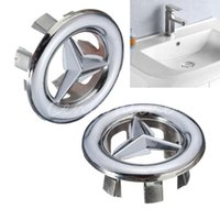 bathroom sinks tops - 2015 New Bathroom Star Sink Basin Round Overflow Cover Tidy Trim Chrome Replacement Spare Top Quality