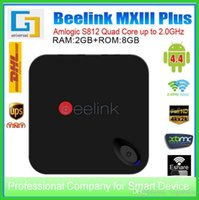 Beelink MXIII Plus 4.4 4K Caja de TV Amlogic S812 Quad Core Smart TV Caja <b>2GB 8GB XBMC</b> Airplay Set top box BR