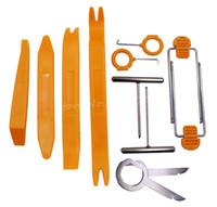audi dash kit - door fitting Set Radio DVD Player Stereo Refit Tool Kit Plastic Car Door Tool Trim Panel Dash Installation Removal Orange Silvery