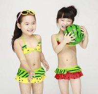 Wholesale 2016 New infant little girl swimsuit child swim wear children swimming wear baby bikini set watermelon kids swimwear for girls sets swimsuit