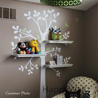 baby wall shelf - Baby Nursery Tree Wall Sticker Tree Wall Decal House Birds Decorative DIY Shelf Family Decor Kids Room Shelf Tree Hot Sale T42