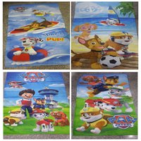 Wholesale 5 Designs cm Creative Unisex Cotton Patrol Dog Printed Beach Towel Patrol Dog Design Body Towel Puppy Party Bath Towel LC359