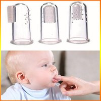 baby dental health - Finger Baby Toothbrush Safe silicone Soft Hair Toothbrush Children Pappus Toothbrushes Dental Care Tooths Health OPP bag