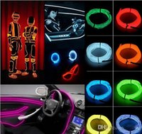 Wholesale 5M LED Flexible EL Wire Rope Tube Cable led Strip Neon Glow Glowing Car Light With Controller
