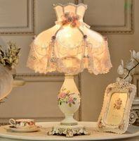 bedside tables sale - 2016 Sale Real E27 No Ac Led Table Lamps for Bedroom European Style Lamp Warm Living Room Decorative Vintage Wedding Bedroom Bedside Table