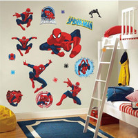 bathroom fan cover - 100pcs ZY Y002 spiderman wall stickers kids room decor y002 diy home decals cartoon movie fans mural cover art pvc print posters