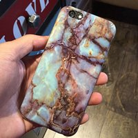 artificial marble - New Artificial Marble Pattern Back Cover TPU Matte Phone Cases Marble Rock Stone Mobile Phone Cases for Iphone6 plus Iphone7 plus