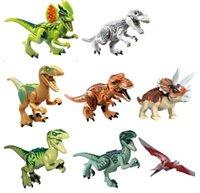 best dinosaur toys - PrettyBaby set New Arrival Jurassic World dinosaurs figures Variation Tyrannosaurus Assemble Blocks Classic Toy Best gift for boy