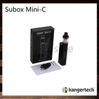 Wholesale Kanger SUBOX Mini C Starter Kit Kangertech W KBOX Mini C Mod ml Subtank Mini C Tank Leak Resistant Cup Design Top Filling Original