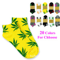 Wholesale Hot Sale Skateboard Sports Sock Plantlife Boat Socks Short SKATE Socks Cotton Leaf Socks Pairs