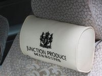 Wholesale B99 X0208 Junction Produce JP Leather Embroidery Logo Neck Pillows Headrest white blkack color
