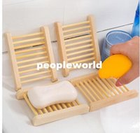 Wholesale Novelty Households Product Wood Soap Dishes Tray Wooden Box For Sponge Holder Bathroom Accessories