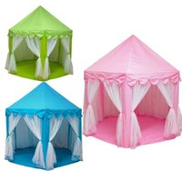 Wholesale Kids Play Tents Prince and Princess Party Tent Children Indoor Outdoor tent Game House Three Colors for Choose