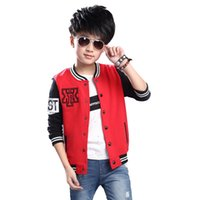 Wholesale Spring amp Autumn Boy Baseball Jackets Fashion Korean Style Letter Print Sports Coat Outerwear Infantis Children s Clothing