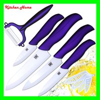 Wholesale 5pcs plastic ABS non slip handle kitchen ceramic knife set including ceramic peeler kinds peeler for selection chef knife paring knife