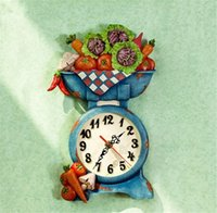 american vegetables - 2015 New Arrival American Style Vegetable Scale Rural Fashion Beautiful Wall Clocks quot