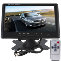 Wholesale New TFT Car Monitor High Resolution quot TFT LCD Monitor Color Car Rearview Camera Mirror System With Ch Video