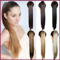 human hair ponytail - Neverland Beauty Straight Ponytails Claw Clip in Ponytail Hair Extension cm quot Similar Human Pony Tail Horsetail Hairpiece Jaw Ponytail