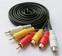 advance polybag - Advanced GOLD Plated THREE RCA Male to THREE RCA Female Plug Audio Video AV Connector Cable M