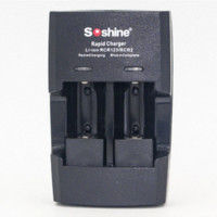 battery indicator light - Soshine S5 AA AAA CR2 CR123 Battery Charger with LED Indicator Light EU adapter Car Charger Battery Box