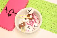 Wholesale Cute cartoon creative bookmarks paper clip Paper Clip Bookmark Folder Office School Supplies Desk Accessories