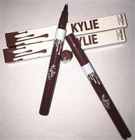 best liquid eye liner - In stock the best new arrive Kylie Jenner Black Brown Liquid Eyeliner Longlasting Waterproof Eye Liner Pencil Pen Nice Makeup Cosmetic Too