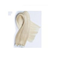 remy tape hair extensions wholesale - 18 quot cm Tape In Remy Real Human Hair Extensions Cheap Brazilian Malaysian Indian Peruvian Hair Extensions Straight g Lightest blonde