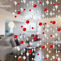 Wholesale 17 Color Meter Fashion Home Party Decoration Arylic Glass Crystal Garland Rope Beads Curtain Hanging Screen Built in Slat