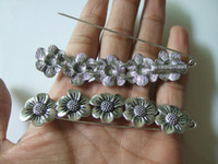 antique shawls - 5pcs Large Antique Silver Tone Sunflower Durable Strong Metal Shawl Kilt Scarf Brooch Safety Pin mm