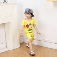 baby bones - 2016 summer style infant clothes baby clothing sets boy Cotton fish bones short sleeve suit baby boy kids clothes freeshipping DHL