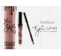 Wholesale the best new Kristen Ginger Maliboo KYLIE JENNER LIP KIT Kylie Matte Liquid Lipstick Lip Liner Kylie lip New Color