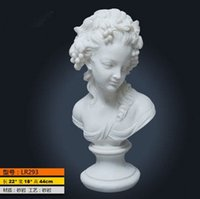 Wholesale stone busts resin greek statues female sculpture white sandstone sculpture cheap malaysian resin art and sculpture