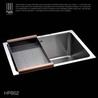 Wholesale Han Pai Stainless Steel Single Bowel Thicken Square Brushed Artesanato Kitchen Sink Faucet Fregadero HPB02