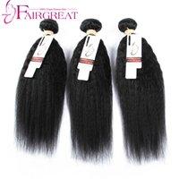 Wholesale 7A Brazilian Kinky Straight Human hair Bundles inch Unprocessed Brazilian Human Hair Weaves Brazilian Straight Hair Extensions