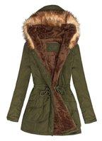 army black overcoat - Women Long Padded Coat Warm Womens Winter Coats Army Green and Black Hooded Coat Lined Overcoats