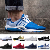 Wholesale Camo Golf Shoes - 2016 Air Presto BR QS Unholy Cumulus all black Mens Womens Running Shoes Blue Red Grey retro lighting camo Men Sports shoes 36-45