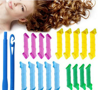 Wholesale DIY MAGIC LEVERAG Magic Hair Curler Roller Magic Circle Hair Styling Rollers Curlers Leverag perm Hair Care Styling Tools sets