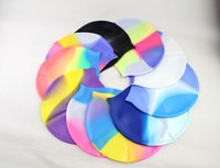 Wholesale Flexible Waterproof Silicon Swimming Cap Unisex Adult Waterdrop Swimming Hat Cover Protect Ear Multicolor