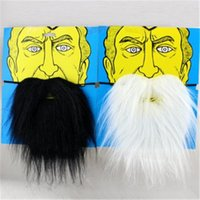beard accessories - Halloween Adult Costumes Black White False Beard for Fashion Men Party Cosplay Halloween Carnival Party Supplies Theme Costume Prop