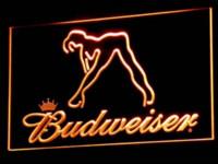 Wholesale a133 Budweiser Exotic Dancer Stripper Bar LED Neon Light Sign colors sent in hrs