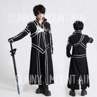 art online games - Kirigaya Kazuto Kirito cosplay costume Japanese Anime Sword Art Online Cosplay costume SAO CLOAK amp SHIRT