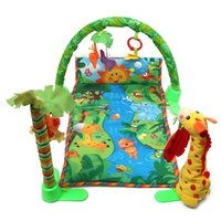 Wholesale Rainforest Musical Gym Melodies Lights Deluxe Baby Infant Play Mat Activity Tummy Time Floor Crawl Playmat Toy Game Blanket