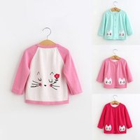 bb kitty - Hug Me Baby Girls Kitty Sweater Button Cardigan Stripe V Neck New Autumn Winter Warm Sweater BB