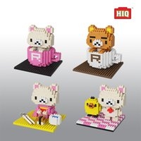 bear design build - Micro drilling blocks of small particles block toy Mini inserting man Zi hero with bear design style building stands