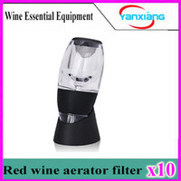 Wholesale 10pcs Magic Red Wine Aerator Decanter Essential Red Wine Aerator Set Perfect Gift Bar Tools Stand Filter And Travel Bag Included YX XJQ