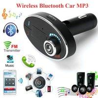 Wholesale New BT C1 Handsfree Wireless Bluetooth LCD MP3 Audio Player Car Kit SD MMC USB Charger FM Transmitter Modulator